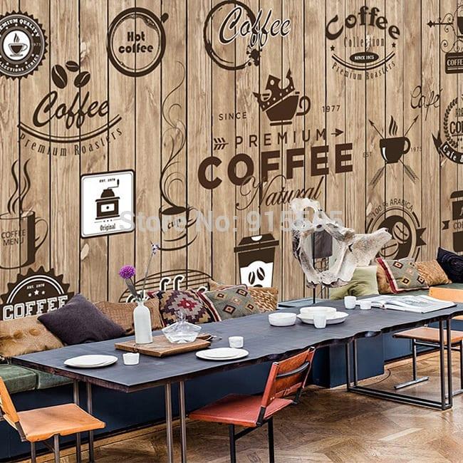 Cafe lebih unik dengan wallpaper dinding