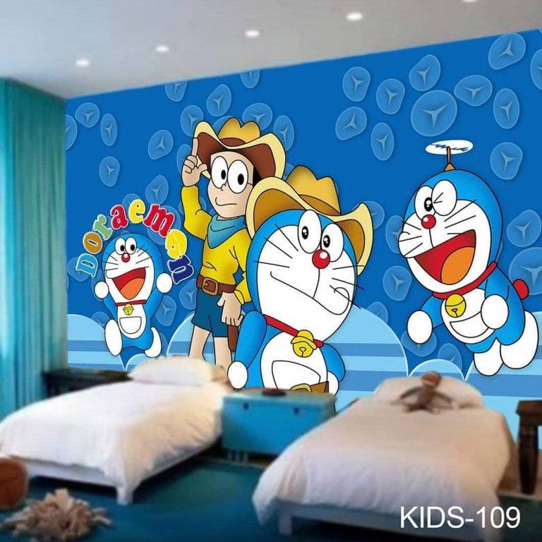 Gunakan wallpaper 3D untuk anak kambar anda