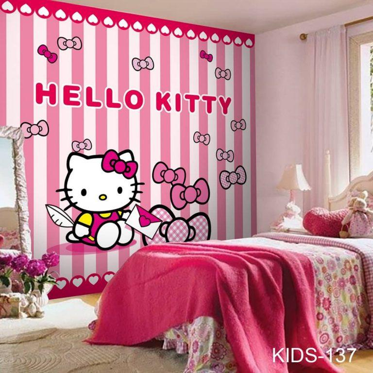 Kamar anak jadi cantik dengan wallpaper karakter