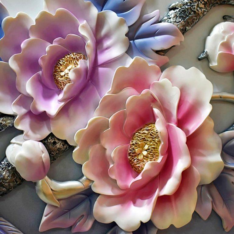 Design bunga paling tepat motifnya sangat hidup