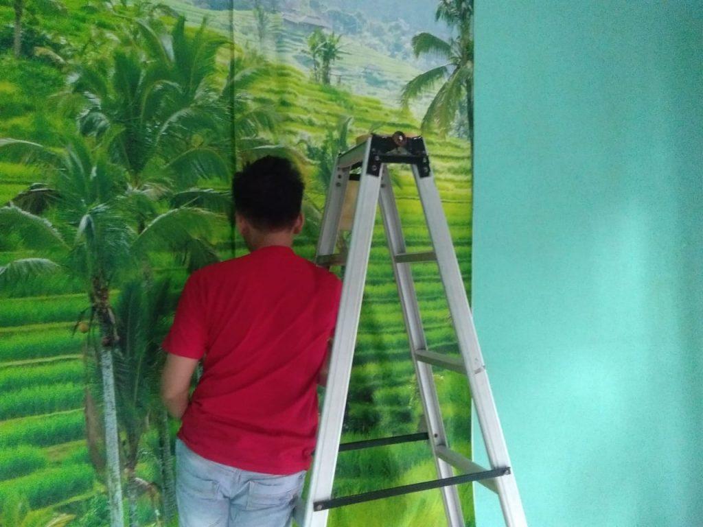 Cari Tukang Pasang Wallpaper Dinding